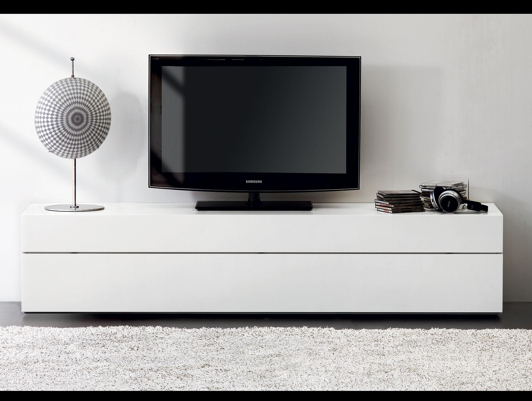 White Lacquer Media Console Homesfeed