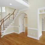 White Top Rated Interior Paint With Wood Floor ANd White Frame Home