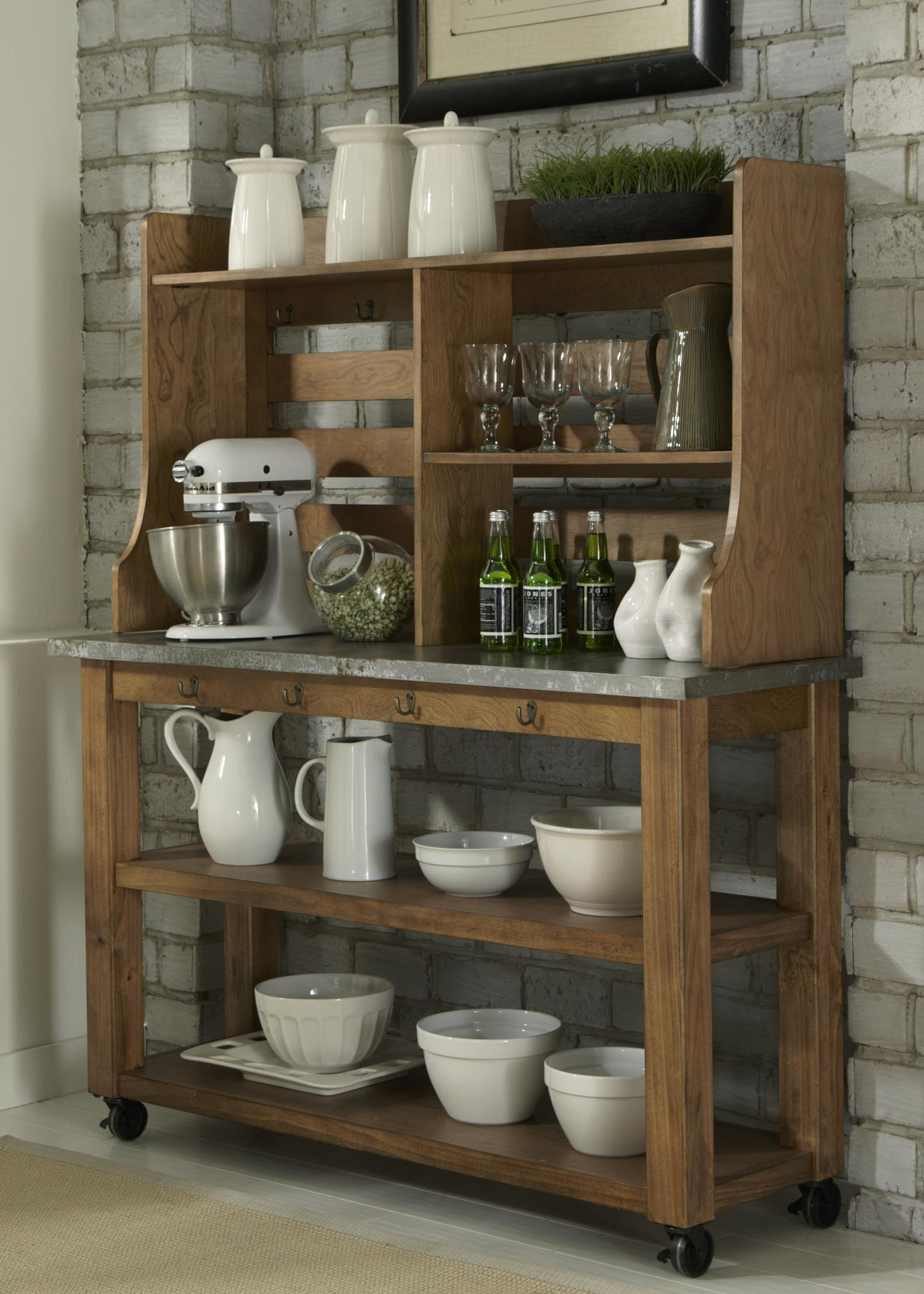 Wood And Metal Kitchen Hutch