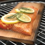 Wooden Cedar Planks For Grilling With Meat And Lemon