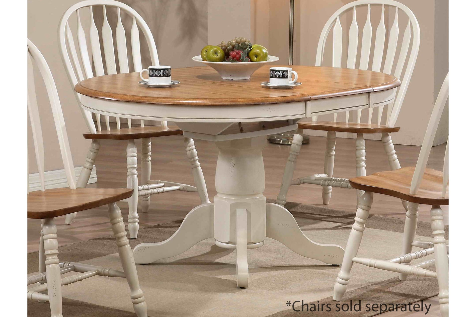 Beautiful White Round Kitchen Table and Chairs – HomesFeed