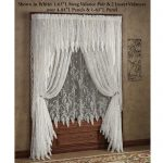 Awesome Lace Window Shades With Wooden Panel