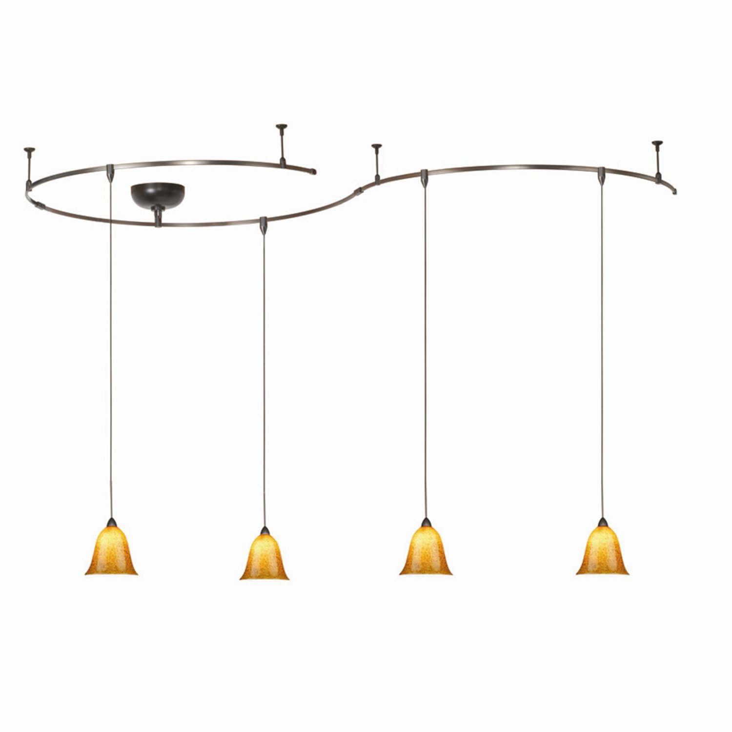 Awesome Track Lighting With Pendants And Four Lamps