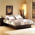 Black South Shore bed frame design in platform model
