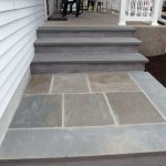 Blue stone paves application for outdoor area