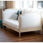 Classic daybed with white upholstery