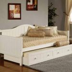 Classic style daybed trundle IKEA supported with armrests and backrest