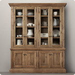 Cool Wooden Sideboard With Hutch Without Finishing