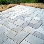 Different size blue stone pavers for outdoor