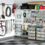 Elfa storage system for home and gardening utilities