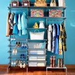 Elfa storage system idea for wardrobe footwear and bags