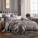 Gray and purple bedding set product for queen size bed gray wool area rug a corner chair