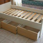 IKEA captain bed frame design idea with headboard and footboard