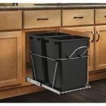Kitchen recycle bin in black designed by IKEA