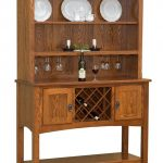 Modern vintage sideboard with hutch made of hardwood