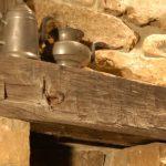 Old look wood fireplace mantel idea