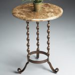 Round Marble Top End Table With Unique Legs