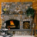 Simple Stone Fire Places With Wood Spot