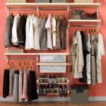 Simple and small Elfa storage system idea for footwear and wardrobe