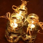 Simple but elegant idea of candle centerpiece for table