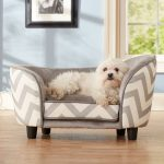 Small fabric couch for dog in gray