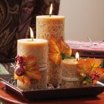 Stunning candle centerpiece for dining table