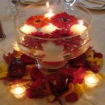 Stunning candle centerpiece for table