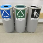 Three units of recycle bins IKEA made of metal