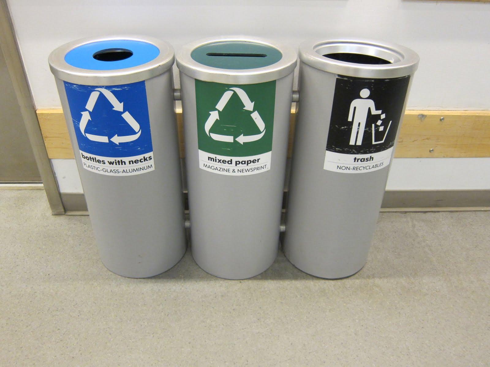 Three Units Of Recycle Bins Ikea Made Metal