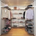 U Shape Elfa Storage System For Clothes And Footwear