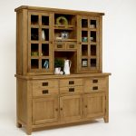 Unfinished wood sideboard with hutch