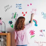Washable wall paint in white for kids' room