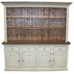 White Classic Sideboard With Hutch