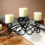 Wrought Iron Candlestick Holder Set In Classic Style