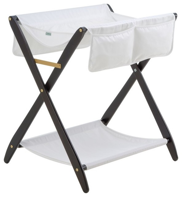 Larger Foldable Changing Table With Casters X Base Folfable For A Baby