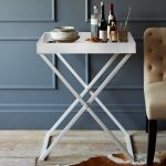 X base tall accent table in white