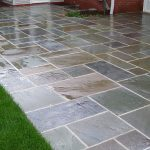 blue stone pavers application for outdoor spot