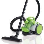 canister vacuum cleaner in green