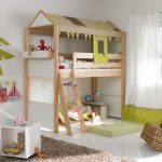 Unique kids loft bed IKEA with built in ladder