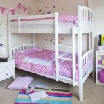 White IKEA loft bed idea for girls with built in ladder