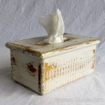 white wash tissue box cover