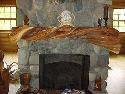 Rustic Fireplace with Unpolished Cracked Stone with Transparent Fire Mantel also Wooden Firepit with Unique Model and Classic Concept for Ornament