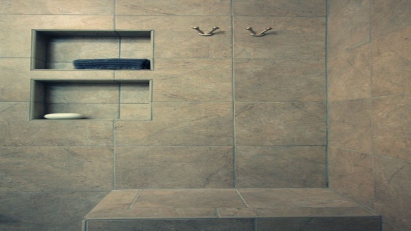 Magnificent Bathroom with Granite Tiles as Main Cover for Support Panel using Modular Style for Contemporary Appearance of Bathroom on Flat