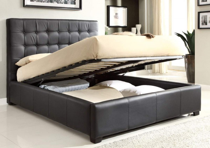 Deluxe Bedroom with Classy Model on Bed Platform also Perforated on Headboard with Airy Bed on Contemporary Room Designed in Classic Style for Floor