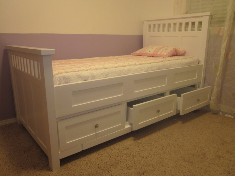 Astonishing Bed Platform with Variation on Storage also White Headboard with Small Mat also Colored Wall Design also Rough Floor Decoration