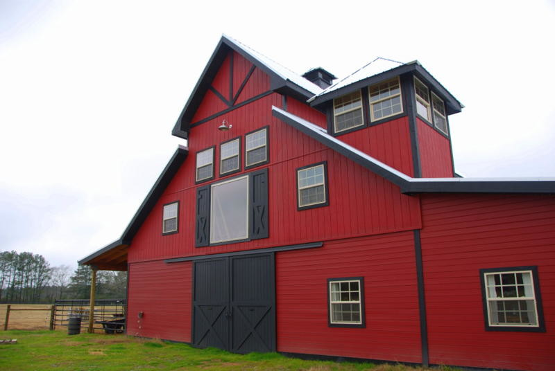 customized dark grey garage door idea with scarlet toned shed