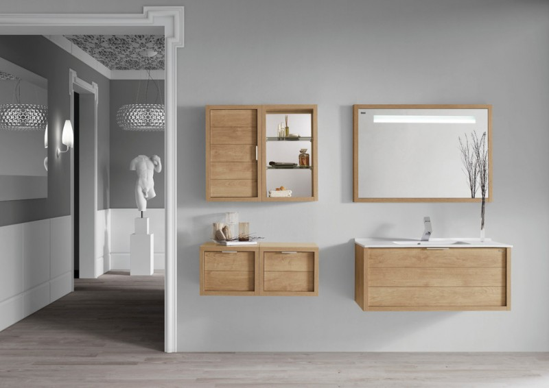 tiny floating vanity idea with wood frame vanity mirror floating drawer systems with open shelves