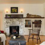 Whitewashed Brick Fireplace Idea In Shabby But Stylish