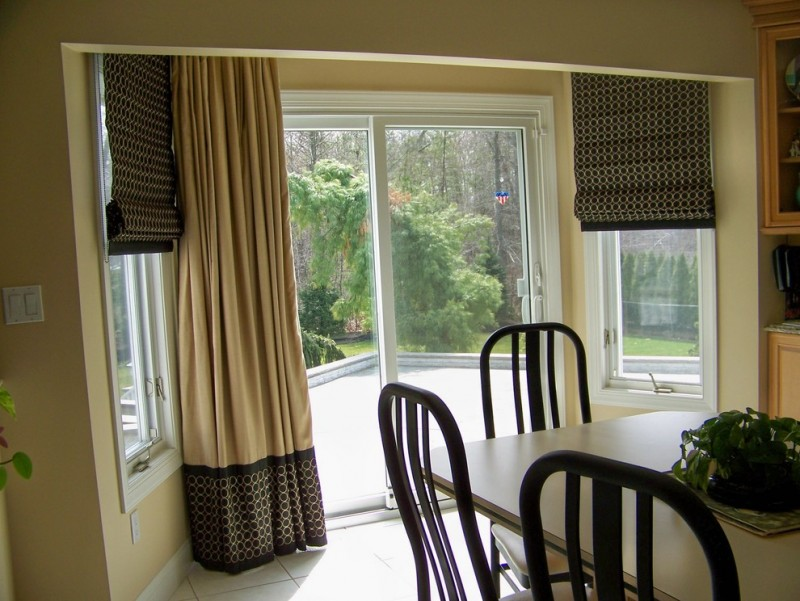 cream toned window curtains for basement dark window shades