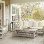 Pale Toned Front Porch Idea Pale Toned Wood Board Floors Pale Toned Wood Furniture Set